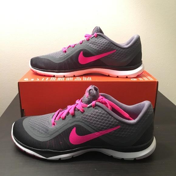 NEW - Nike Flex Trainer 6 - Grey Pink 79ddec307